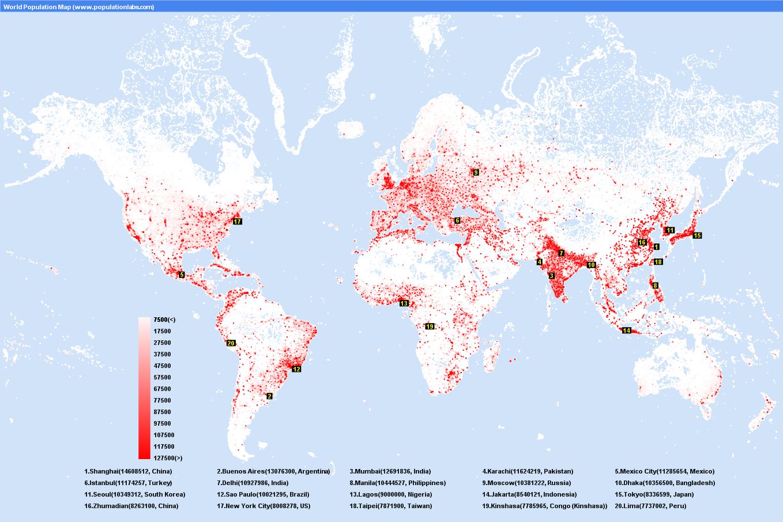Population distribution in the world! | RINCON DE LA CLASE ...